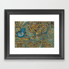 Drawing Meditation - Tangerine Framed Art Print