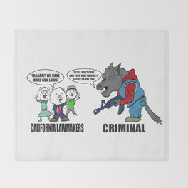 Wolf vs Sheep Throw Blanket