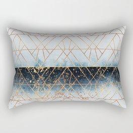 Winter Blue Geo Rectangular Pillow