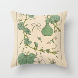 Maurice Pillard Verneuil - Plants and their Ornamental Applications (1896) - Squash 1 Throw Pillow