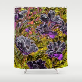 Great Flowers in purple Shower Curtain