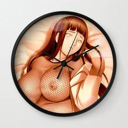 Naruto Hinata Hyuga Uzumaki Fishnet Wall Clock