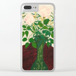 Vintage Rose Painting - American Art Clear iPhone Case