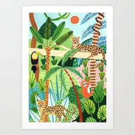 Jungle Pals Art Print