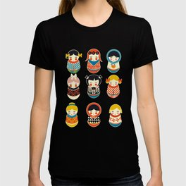 Babushka dolls vibrant pattern T-shirt
