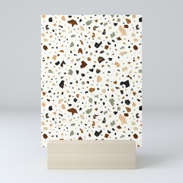 Gold Terrazzo Pattern Fragments Mini Art Print