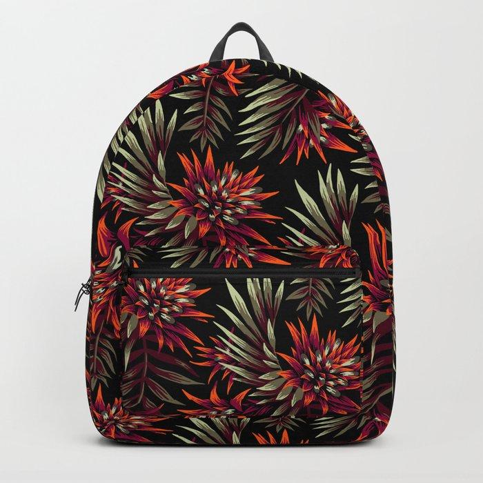 Aechmea Fasciata - Dark Orange / Purple Backpack