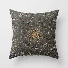Cosmic Breath - Dot Mandala Throw Pillow
