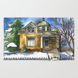 The Little Brown House Rug