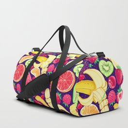 Fruit Cocktail on Blue Duffle Bag
