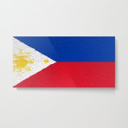 Extruded flag of the Philippines Metal Print