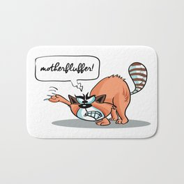 MotherFluffer! - Angry Cat Bath Mat