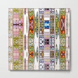 Kaleidoscope Rivers on White Background Metal Print