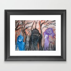 Monsters, We Framed Art Print