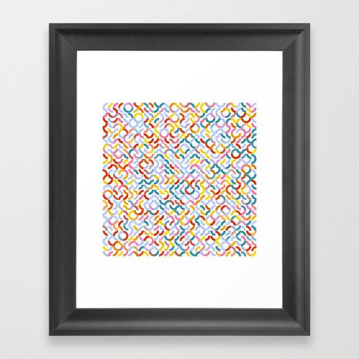 Rotated Arcs 01, Seed 5/44 Framed Art Print