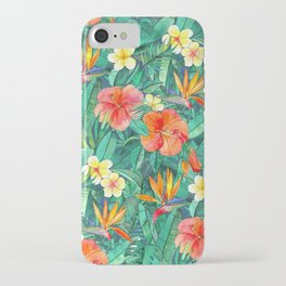 Classic Tropical Garden iPhone Case