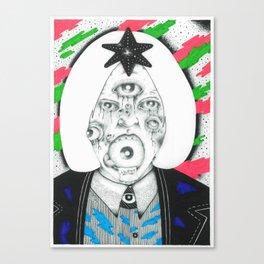 mujer de muchos ojos Canvas Print