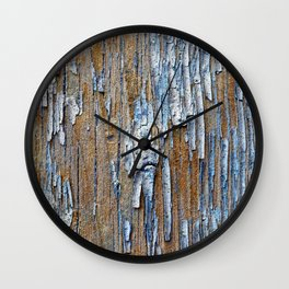 Old painted wooden plank Wall Clock