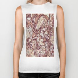 abstract camouflage leaves Biker Tank