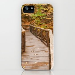 Autumn Boardwalk Bridge iPhone Case