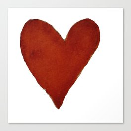 Hand-painted Watercolour red heart Canvas Print