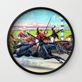 Louis Maurer - A hot race from the start - Digital Remastered Edition Wall Clock