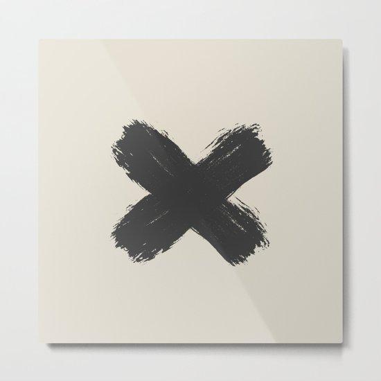 Black Cross Metal Print