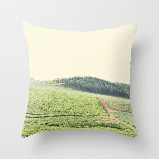 on the hill::uganda Throw Pillow