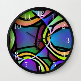 VERY BRIGHT COLORFUL ABSTRACT ARTWORK Wall Clock