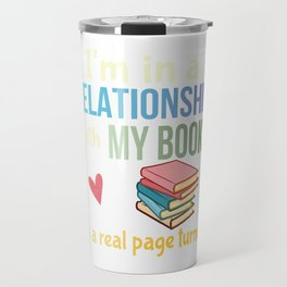 Funny Book Lovers Pun Bibliophile Joke Avid Readers Gift Travel Mug