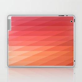 Fig. 044 Coral, Pink & Peach Geometric Diagonal Stripes Laptop & iPad Skin