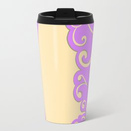 Ivory and Lilac Travel Mug