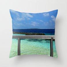 Maldivian balcony Throw Pillow