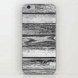 Weathered White Wood Wall iPhone Skin