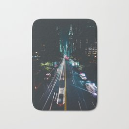 New York City Night Life (Color) Bath Mat