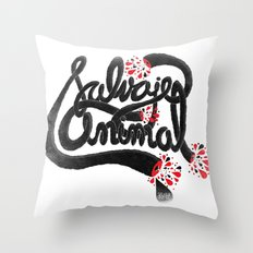 SALVAJEANIMAL headless III Throw Pillow