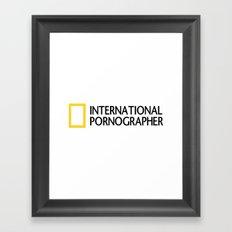 International Pornographer Framed Art Print