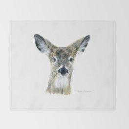 Doe Eyes by Teresa Thompson Throw Blanket