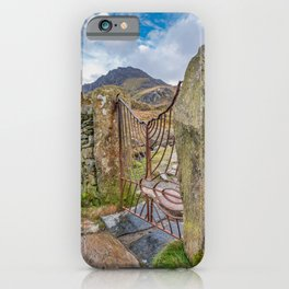 Gate To Tryfan Snowdonia iPhone Case
