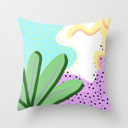 Abstract Day 2 Throw Pillow
