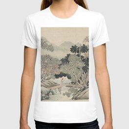 Vintage Japanese Landscape Painting T-shirt