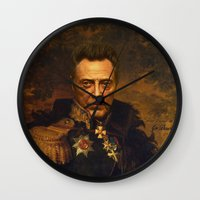 replaceface Wall Clocks featuring Christopher Walken - replaceface by replaceface