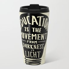 Education: Darkness to Light Metal Travel Mug