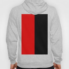 Psychedelic black and red stripes VII. Hoody