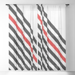 80s stripes Sheer Curtain