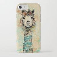 lama iPhone & iPod Cases featuring Lama by Anastasia Tayurskaya
