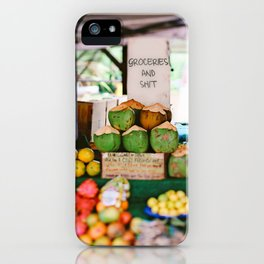 Tropical Groceries and Shit iPhone Case
