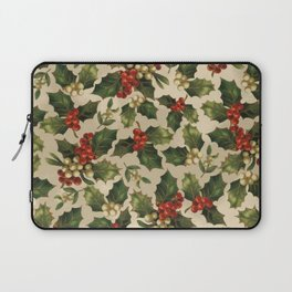 Gold and Red Holly Berrys Laptop Sleeve