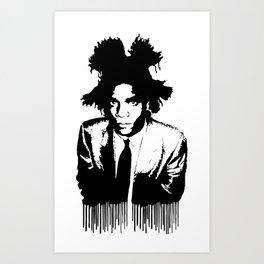 BASQUIAT DRIP Art Print