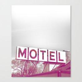 Pink Motel Canvas Print